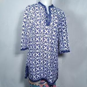 Carolina Herrera Geometric Embellished Tunic Dress